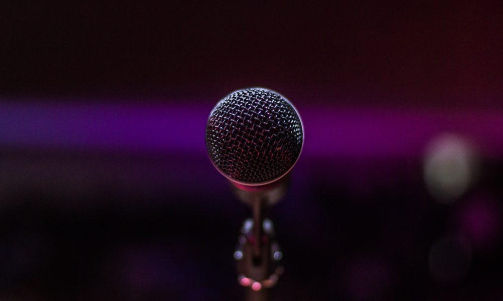 gray microphone
