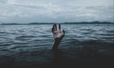 a person drowns underwater