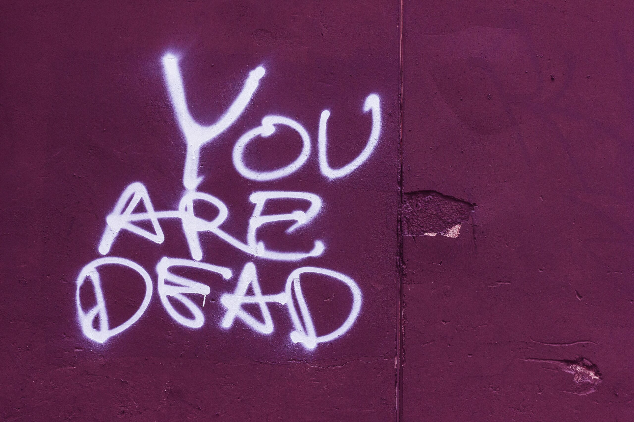 you are dead text