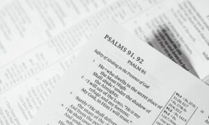 Psalms 91, 92 bible page