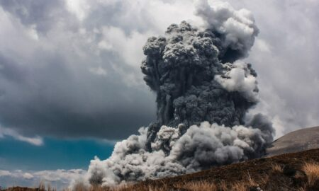 plinian volcanic eruption photograph